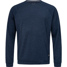 super.natural Essential Raglan Crew Sweatshirt Men, blue iris melange